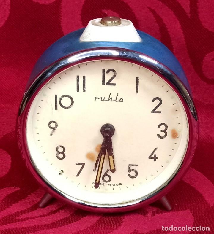 DESPERTADOR VINTAGE - AÑOS 50 - MARCA MIHLA - MADE IN GERMANY - FUNCIONA - 80 MM ESFERA (Relojes - Relojes Despertadores)