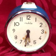 Despertadores antiguos: DESPERTADOR VINTAGE - AÑOS 50 - MARCA MIHLA - MADE IN GERMANY - FUNCIONA - 80 MM ESFERA. Lote 261265700