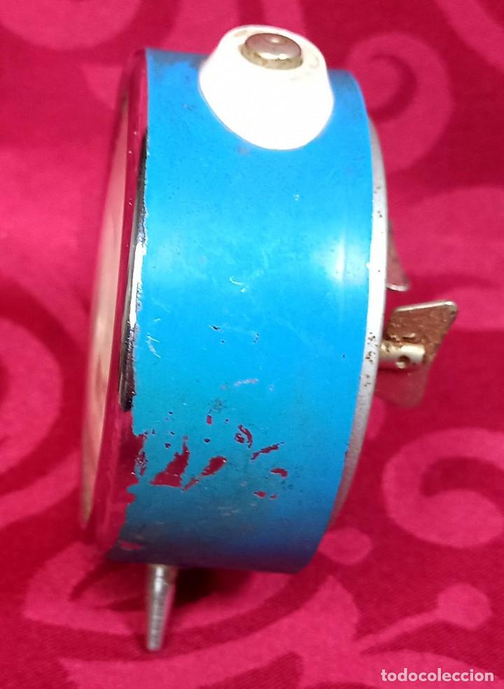 Despertadores antiguos: Despertador vintage - Años 50 - MARCA MIHLA - MADE IN GERMANY - Funciona - 80 mm esfera - Foto 2 - 261265700