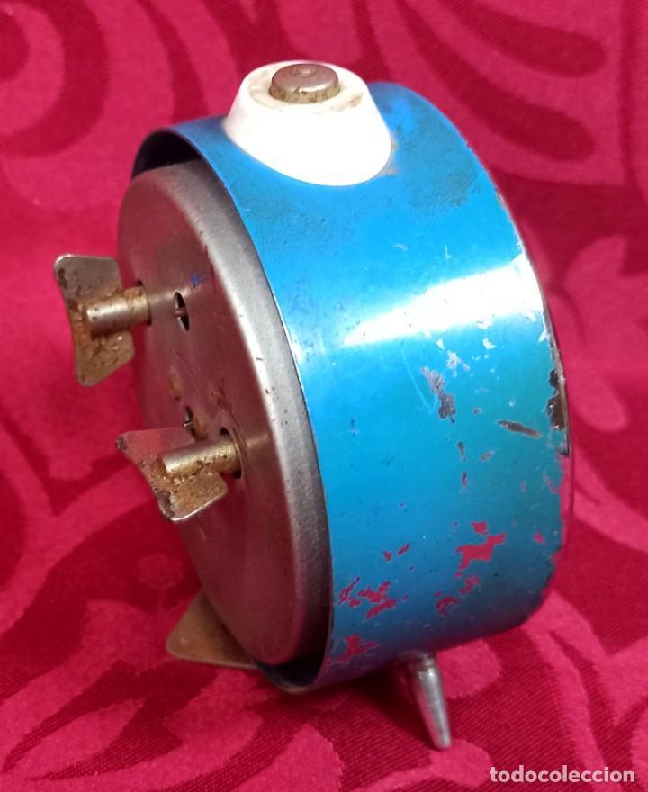 Despertadores antiguos: Despertador vintage - Años 50 - MARCA MIHLA - MADE IN GERMANY - Funciona - 80 mm esfera - Foto 4 - 261265700