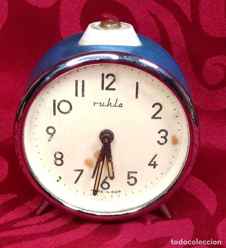Despertadores antiguos: Despertador vintage - Años 50 - MARCA MIHLA - MADE IN GERMANY - Funciona - 80 mm esfera - Foto 5 - 261265700