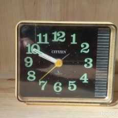 Despertadores antiguos: RELOJ DESPERTADOR - CITIZEN - BUEN FUNCIONAMIENTO - QUARTZ JAPAN - Q31201 QKB-888 014E. Lote 261814925