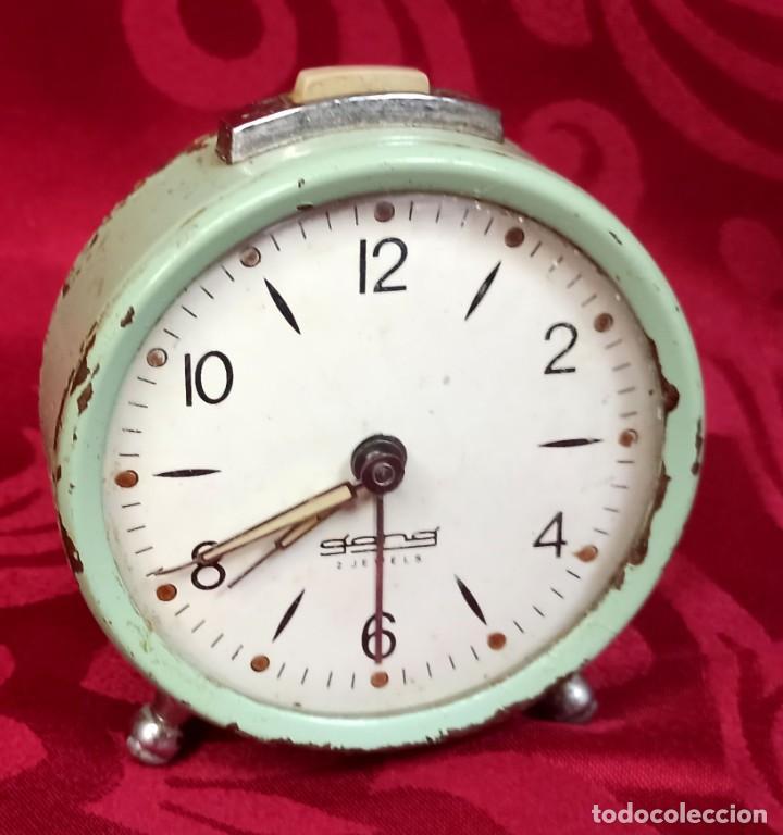 DESPERTADOR VINTAGE - AÑOS 60 - MARCA GANG - 80 MM ESFERA - NO FUNCIONA. (Relojes - Relojes Despertadores)