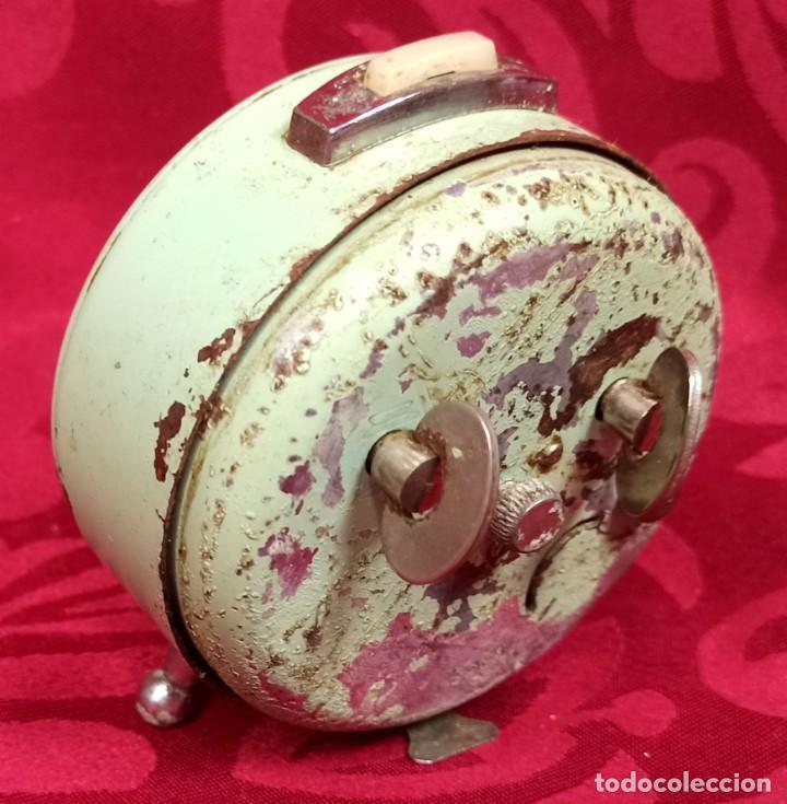 Despertadores antiguos: Despertador vintage - Años 60 - MARCA GANG - 80 mm esfera - NO Funciona. - Foto 3 - 261822750