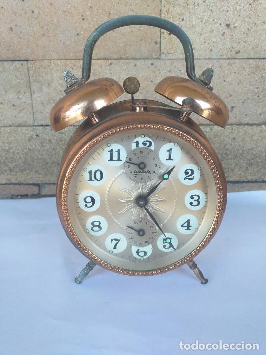 ANTIGUO RELOJ DESPERTADOR WEHRLE MADE IN GERMANY A CUERDA. FUNCIONA (Relojes - Relojes Despertadores)