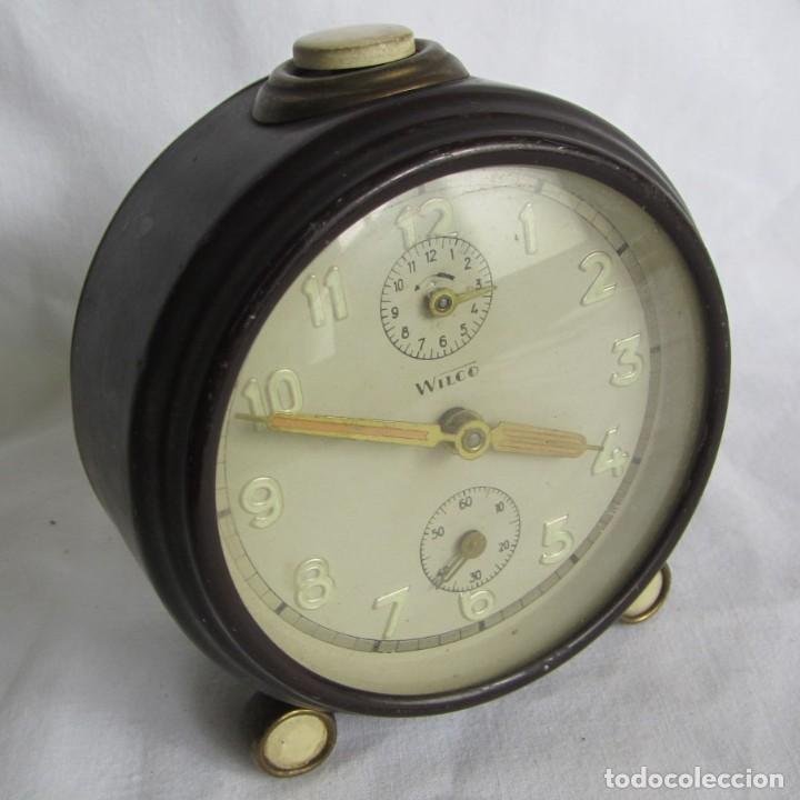 RELOJ DESPERTADOR DE SOBREMESA WILCO, FUNCIONANDO (Relojes - Relojes Despertadores)