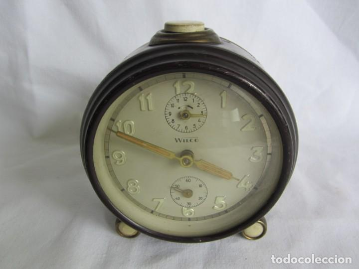 Despertadores antiguos: Reloj despertador de sobremesa Wilco, funcionando - Foto 2 - 262594920