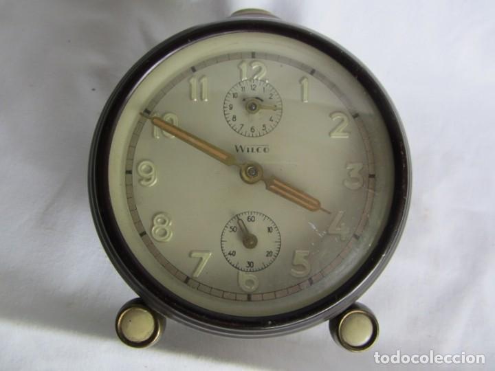 Despertadores antiguos: Reloj despertador de sobremesa Wilco, funcionando - Foto 3 - 262594920