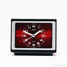 Despertadores antiguos: RELOJ DESPERTADOR SPACE AGE IMPEX 7RB609 NOS. Lote 262668555