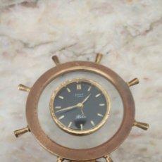 Despertadores antiguos: RELOJ DESPERTADOR ANTIGUO, FORMA DE TIMÓN. Lote 262681290