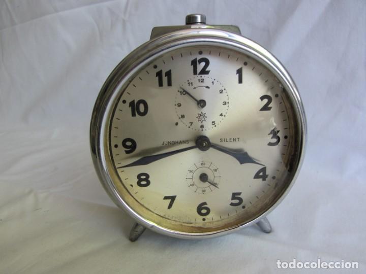 Despertadores antiguos: Reloj espertador Jughans fucnionado - Foto 2 - 262918495