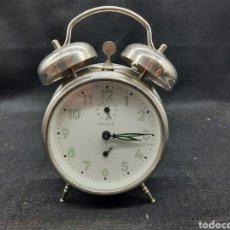 Despertadores antiguos: RELOJ DESPERTADOR DE CUERDA. Lote 263299240