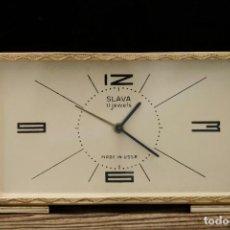 Despertadores antiguos: SLAVA VINTAGE ALARM CLOCK 1970'S FULL WORKING. Lote 263962075