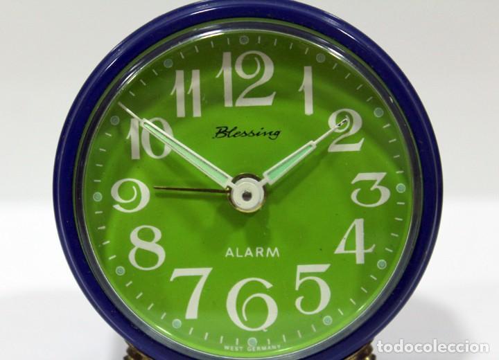 Despertadores antiguos: Reloj BLESSING - WEST GERMANY. FUNCIONA PERFECTO. RARO! - Foto 2 - 265217049