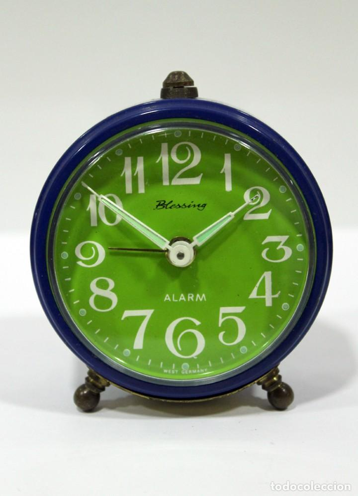 Despertadores antiguos: Reloj BLESSING - WEST GERMANY. FUNCIONA PERFECTO. RARO! - Foto 3 - 265217049