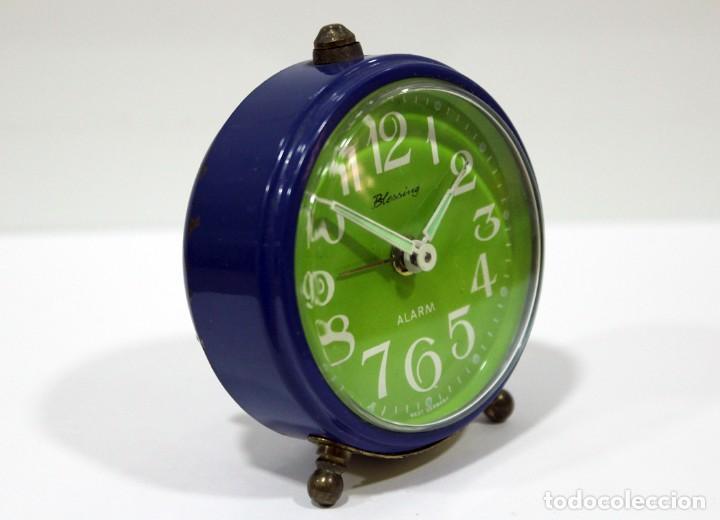 Despertadores antiguos: Reloj BLESSING - WEST GERMANY. FUNCIONA PERFECTO. RARO! - Foto 4 - 265217049