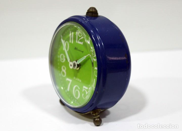 Despertadores antiguos: Reloj BLESSING - WEST GERMANY. FUNCIONA PERFECTO. RARO! - Foto 5 - 265217049