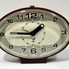 Despertadores antiguos: RELOJ DESPERTADOR JAZ - MADE IN SPAIN. COMO NUEVO.. Lote 265450289