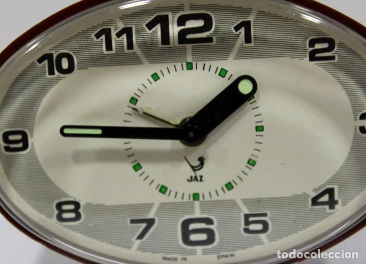 Despertadores antiguos: Reloj despertador JAZ - Made in Spain. Como nuevo. - Foto 2 - 265450289