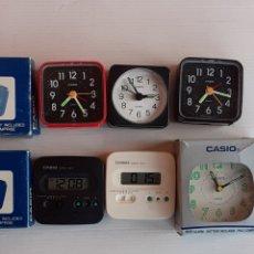 Despertadores antiguos: SEIS RELOJES DESPERTADORES CASIO , NO SE HAN PROBADO, LOS DE LA FOTO. Lote 265558809