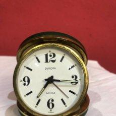 Despertadores antigos: RELOJ EUROPA 2 JEWELS ( GERMANY ) FUNCIONA. VER FOTOS. Lote 266123038