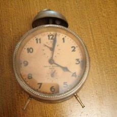 Despertadores antiguos: DESPERTADOR, -CASA SIN BALCONES- C/ODONELL- SEVILLA,MUY ANTIGUO, VER FOTOS. Lote 266644373