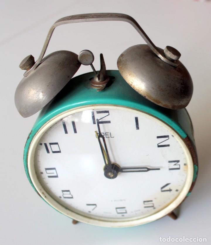RELOJ DESPERTADOR OREL 4 RUBIES MADE IN USSR - NO FUNCIONA - (Relojes - Relojes Despertadores)