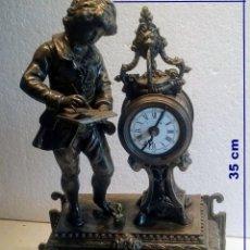 Despertadores antiguos: ANTIGUO, ESCRITORIO, DESPERTADOR CON FIGURA DE ESCRITOR CON ALARMA.. Lote 267367674