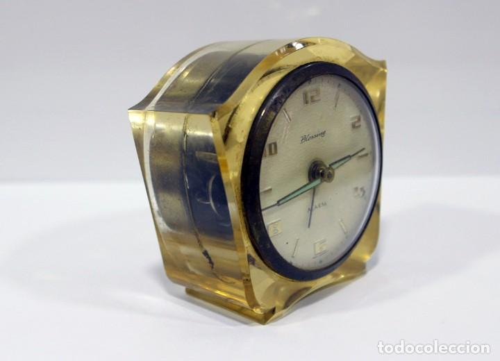 Despertadores antiguos: Reloj BLESSING de Metacrilato. WEST GERMANY. RARO! - Foto 3 - 267623344