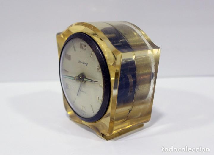 Despertadores antiguos: Reloj BLESSING de Metacrilato. WEST GERMANY. RARO! - Foto 4 - 267623344
