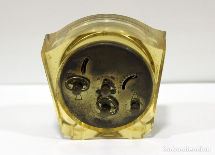 Despertadores antiguos: Reloj BLESSING de Metacrilato. WEST GERMANY. RARO! - Foto 5 - 267623344