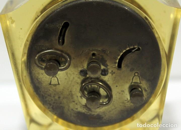 Despertadores antiguos: Reloj BLESSING de Metacrilato. WEST GERMANY. RARO! - Foto 6 - 267623344