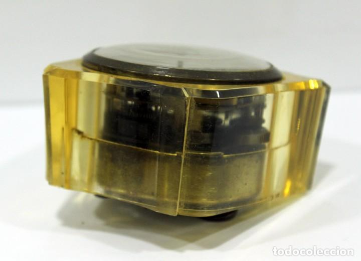 Despertadores antiguos: Reloj BLESSING de Metacrilato. WEST GERMANY. RARO! - Foto 7 - 267623344