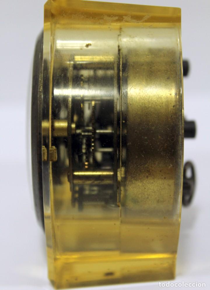Despertadores antiguos: Reloj BLESSING de Metacrilato. WEST GERMANY. RARO! - Foto 8 - 267623344