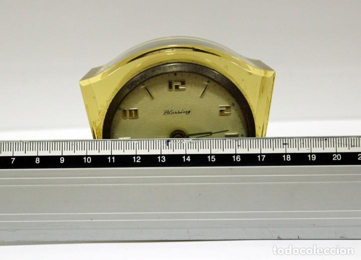 Despertadores antiguos: Reloj BLESSING de Metacrilato. WEST GERMANY. RARO! - Foto 9 - 267623344