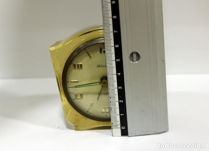 Despertadores antiguos: Reloj BLESSING de Metacrilato. WEST GERMANY. RARO! - Foto 10 - 267623344
