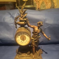 Despertadores antiguos: RELOJ DESPERTADOR DE CALAMINA. Lote 268148059