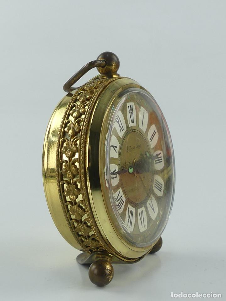 Despertadores antiguos: VINTAGE RELOJ DESPERTADOR A CUERDA MARCA BLESSING ALEMANIA OESTE - Foto 3 - 268810429