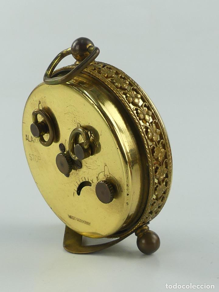 Despertadores antiguos: VINTAGE RELOJ DESPERTADOR A CUERDA MARCA BLESSING ALEMANIA OESTE - Foto 4 - 268810429