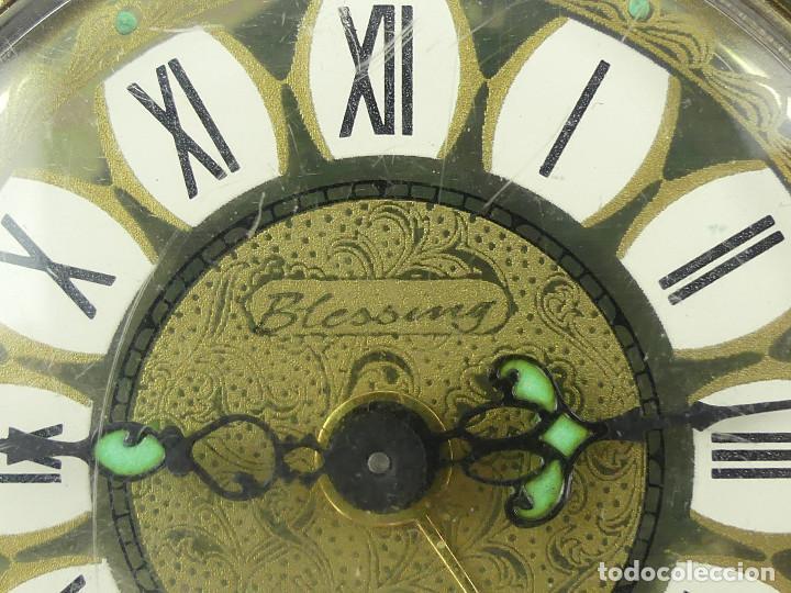Despertadores antiguos: VINTAGE RELOJ DESPERTADOR A CUERDA MARCA BLESSING ALEMANIA OESTE - Foto 8 - 268810429