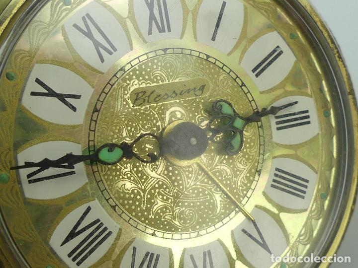 Despertadores antiguos: VINTAGE RELOJ DESPERTADOR A CUERDA MARCA BLESSING ALEMANIA OESTE - Foto 9 - 268810429