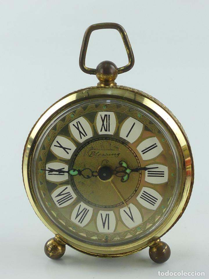 VINTAGE RELOJ DESPERTADOR A CUERDA MARCA BLESSING ALEMANIA OESTE (Relojes - Relojes Despertadores)