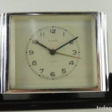 Despertadores antiguos: ANTIGUO RELOJ DESPERTADOR DE SOBREMESA, SLAVA, UNION SOVIETICA, CUERDA, 11 RUBIES, AÑOS 50.. Lote 268939274