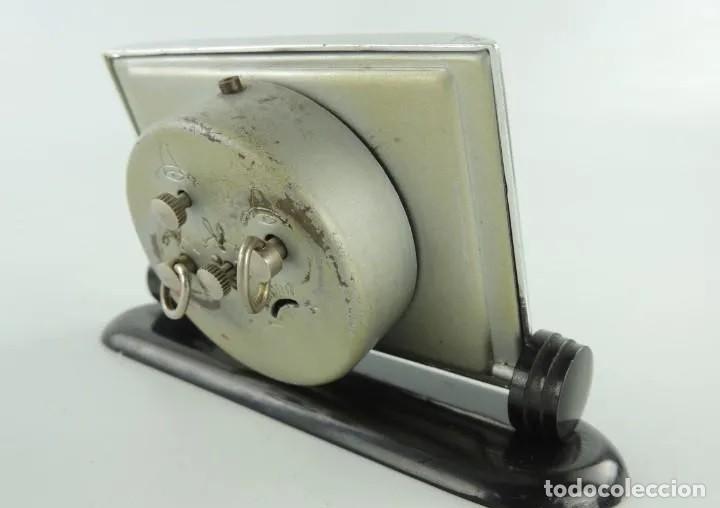 Despertadores antiguos: ANTIGUO RELOJ DESPERTADOR DE SOBREMESA, SLAVA, UNION SOVIETICA, CUERDA, 11 RUBIES, AÑOS 50. - Foto 3 - 268939274