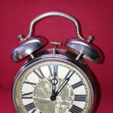 Despertadores antiguos: ANTIGUO RELOJ DESPERTADOR PETER, FABRICADO EN ALEMANIA.. Lote 269063388