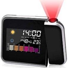 Despertadores antiguos: RELOJ DESPERTADOR DIGITAL LED DESPERTADOR PROYECTOR HORA NUEVO. Lote 269576438