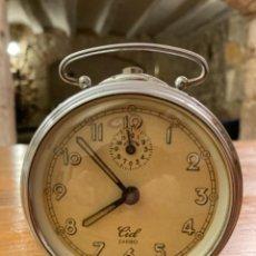 Despertadores antiguos: ANTIGUO RELOJ DESPERTADOR CUERDA MARCA CID, PERFECTO ESTADO CONSERVACIÓN Y FUNCIONAMIENTO AÑOS 50-60. Lote 272078418