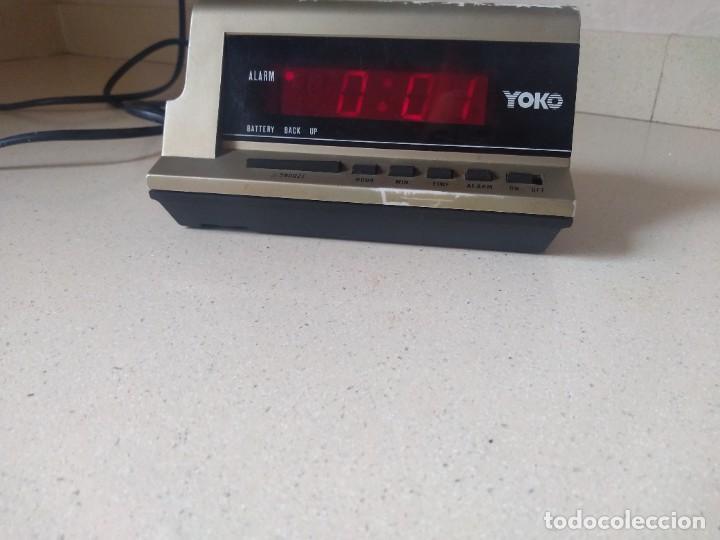 ANTIGUO RELOJ DESPERTADOR ALARMA YOKO MOD. 7533 (Relojes - Relojes Despertadores)