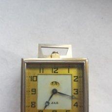 Despertadores antiguos: DESPERTADOR JAZ MECANICO CUADRADO ANTIGUO. Lote 275053483