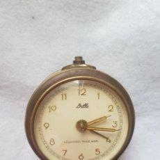 Despertadores antiguos: DESPERTADOR DILLE MECANICO ALEMAN FUNCIONANDO 66MM. Lote 275054238
